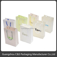 High quality fashion color printed paper shopping bag