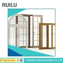 PVC Arched Top Window Round Design Swing Casement Window With Grilles