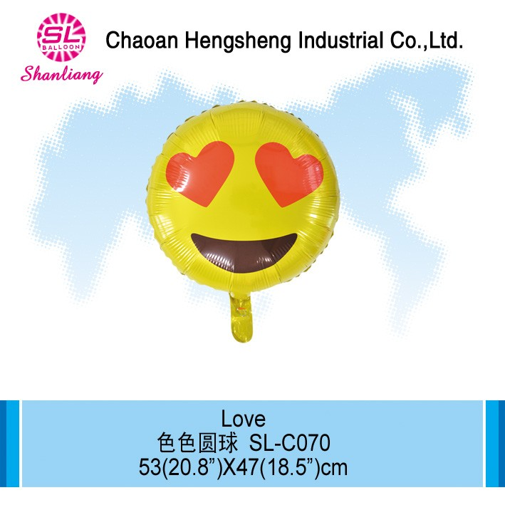 Mylar inflatables emoji fly ballon