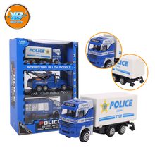Yibao chidren interesting 3pcs alloy diecast blue police play set toy car