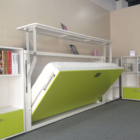 Horizontal Murphy Bed with study table,Murphy Bed with wall bed mechanism,Murphy Top Wall Bed