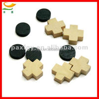 wooden tic tac toe game pieces