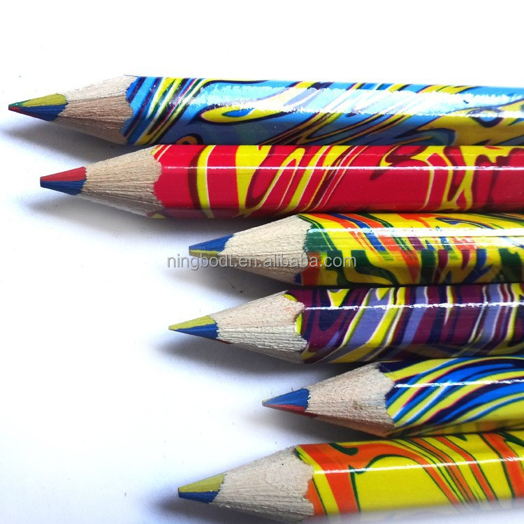 2015 Free sample mixed color leads pencils with cartoon printed