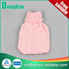 500ml lots little pink heart knitted hot water bag cover
