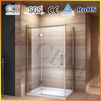 Fashion frameless glass simple shower room for home EX-311