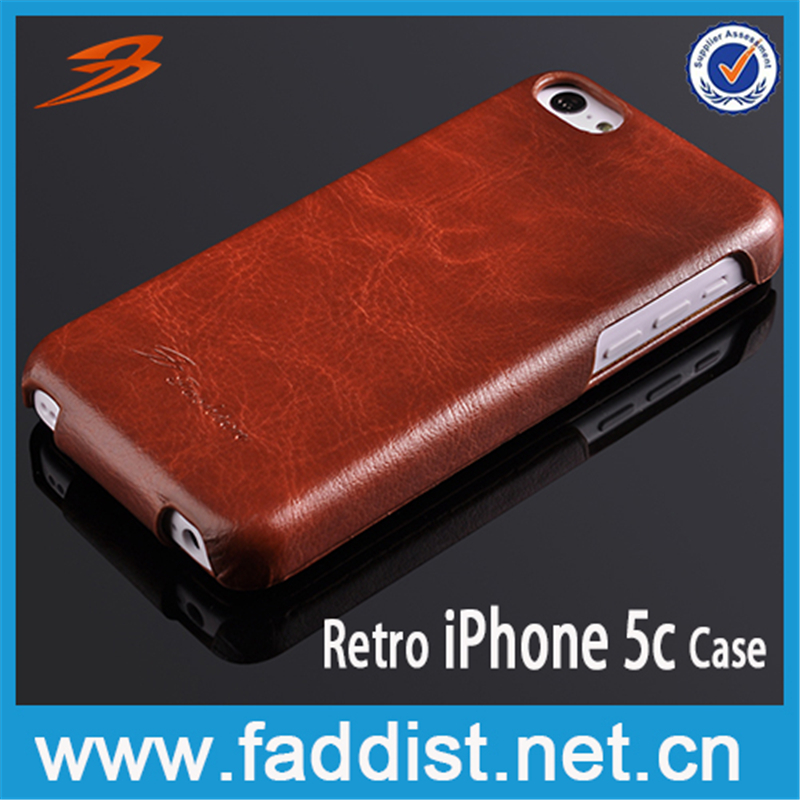 China Factory On sale leather mobile phone case for iphone 5c cover