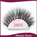 Milkyway D004 3D mink lashes 100% real siberian mink fur false eyelashes thick crossing strip lashes