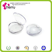 Newest design plastic clear cosmetics compact case