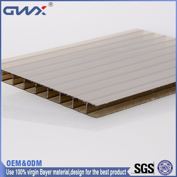 Fine light transmission PC hollow sun sheets Bayer new material for green house roofing