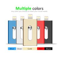 Wholesale Colorful 8G 16G 32G 64G Android IOS Phone Mini Retractable Usb 2.0 OTG Flash Drive For iPhone