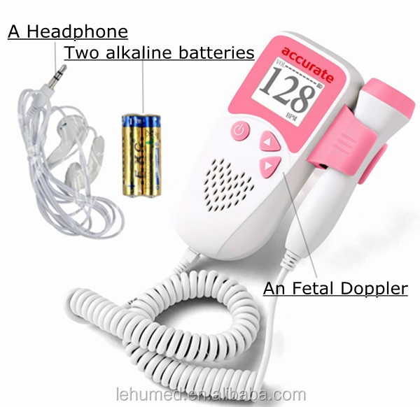 2017 Newest Hot Sale Fetal Monitor/Baby Heartbeat Monitor/Cheap Fetal Doppler with CE Approval