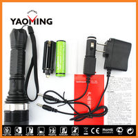 Multi-Function long focus high lumen 19 watt YM-8119 heavy duty led torch light for army
