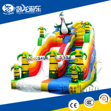 inflatable double lane slip slide, inflatable jumping water slide