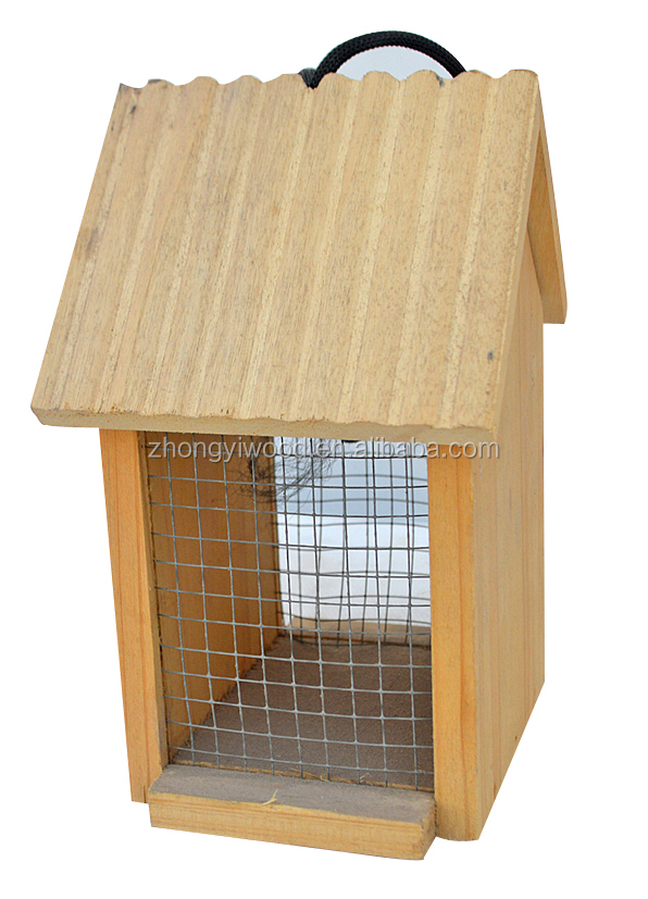 Forest hanging wooden bird feeder small animals feeder water proof feeder