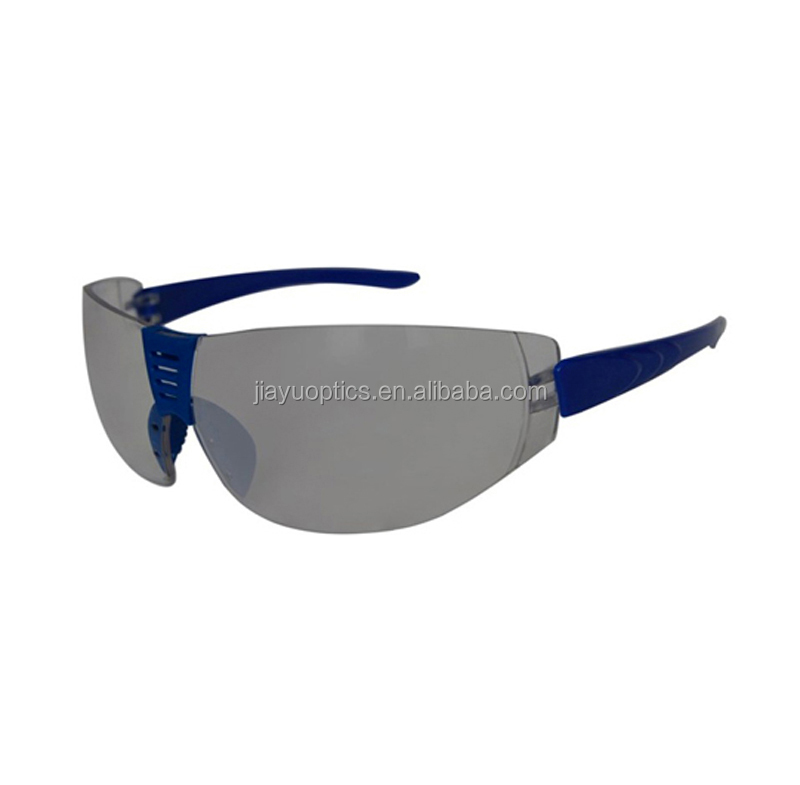 Safety glasses en166 with scratch-resistant coating on lens and PC frame