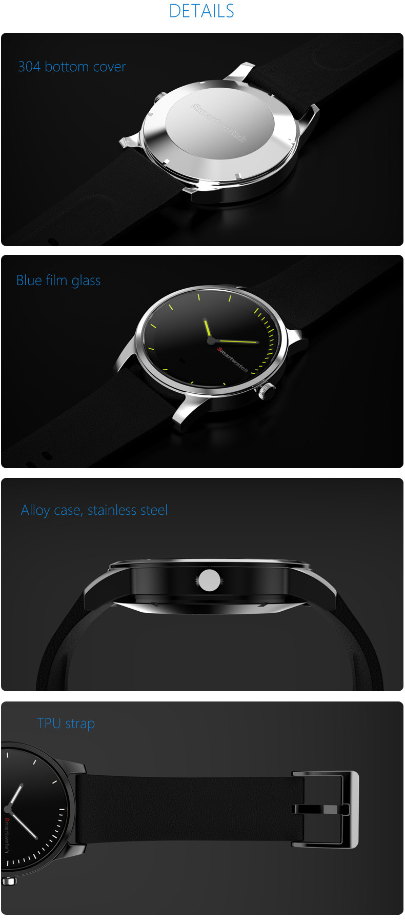 Mens fashionable round screen smart watch for sale iwo smart watch