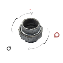 Explosion proof union malleable iron pipe fitting