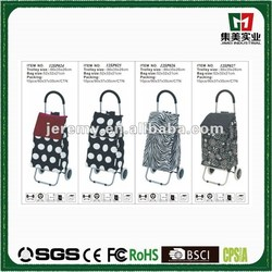 New Design Foldable Round Handle Shopping Trolleys