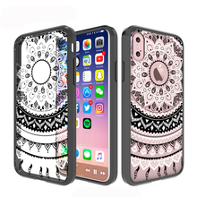 Custom Flower Pattern Mandala Painting TPU+ Acrylic Phone Case For iPhone 8 Case