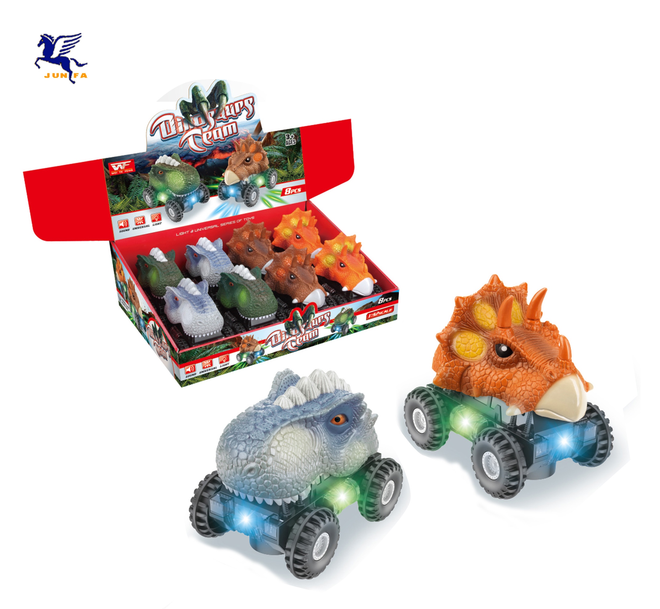 B/O Universal dinosaur Battery operated toy series <strong>W</strong>/light &amp; music