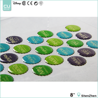 Colorful Customized Domed Shape Bottle Cap Epoxy Sticker