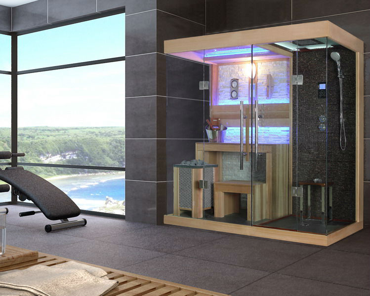 Combination Of Dry Sauna Room Wet Steam Room Fs 1389 Buy Sauna