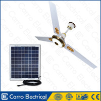Solar power products remote control outdoor ceiling fans with lights