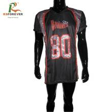 Customized Popular Black American Football Jersey Shirt For Training