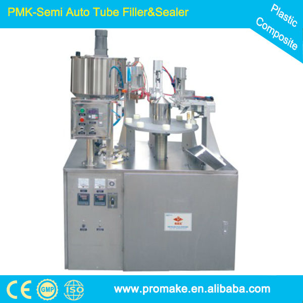 China FSM ce certificate pneumatic cosmetic tube filling and sealing machine electric eye align panasonic frequency converter