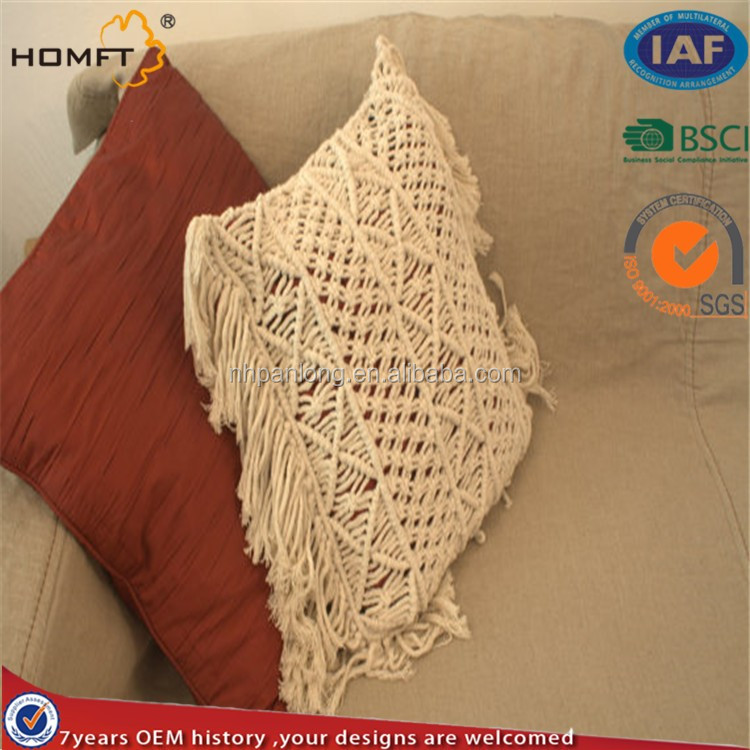 wholesale deco big house macrame cushion cover
