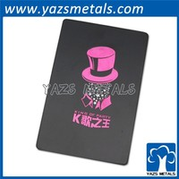 China Manufacturer cheap metal black promotion play card