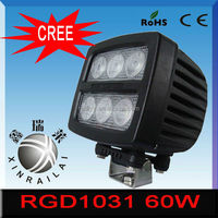 60w ip68 flood/spot 9-32v boat led driving light bar RGD1031 for car atv suv tractor 4x4 offroad