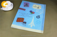 Transparent Plastic Ring Embossing Travel Document Binder Folder