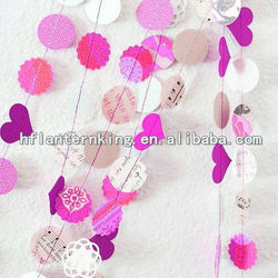 Handmade paper garland for party decoration