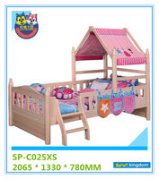 Low cheap toddler bed with small tent for new born baby's room