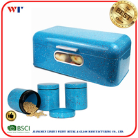 4PCS bread box and canister set