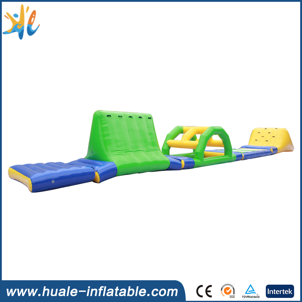 Huale inflatable water obstacle course inflatable water park floating obstacle for adults