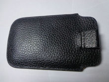 Genuine Leather Mobile Phone Pull Tab Cover Pouch