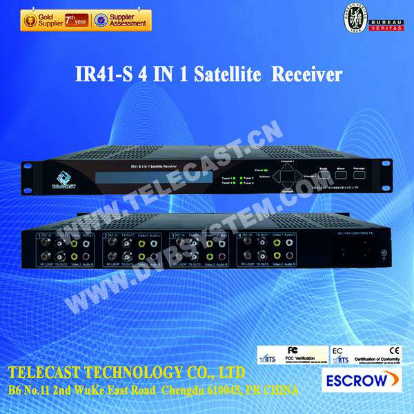 High quality 4 in 1 Satellite Receiver( Digital IRD )