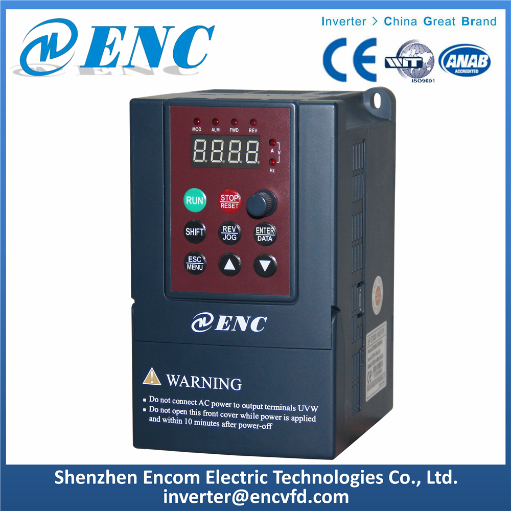 Low Cost Mini AC Drive ENC VFD EDS800 Frequency Converter for Motor Speed Control