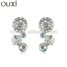 ouxi 2014 cheap custom earring studs 18K gold jewelry made with crystal 20785