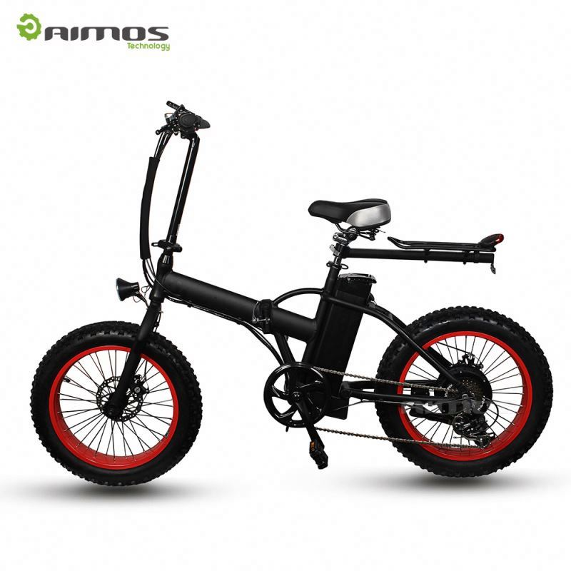 36V 250W Brushless Rear Drive Geared Motor 16 Inch Mini Folding Electric Bicycle with Disc Brake White