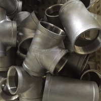 304L stainless steel casting threaded NPT 1/2'' pipe fittings 150# tee