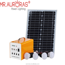 With poly panel/LED bulbs/lamp wires/mobile cable mini solar power system kits