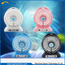 High Quality 18650 Battery Cooling Air USB Fan with led Light