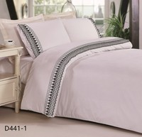 lace embroidery poly cotton king size textile bed sheet sets india