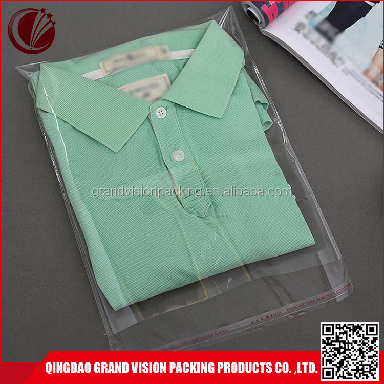 Customized Logo free sample MOQ=1000pcs resealable garment sealable plastic bags for clothing
