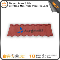 Roofing Tile Manufacturers Supply Good Stone Coated Metal Roofing Tile