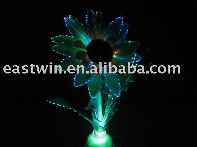 Brighter LED 3w Fiber optic SunFlower for decoration