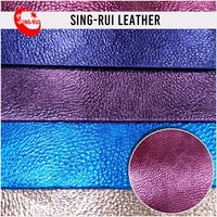 Pu Shoe Leather Purple Shoe Upper
